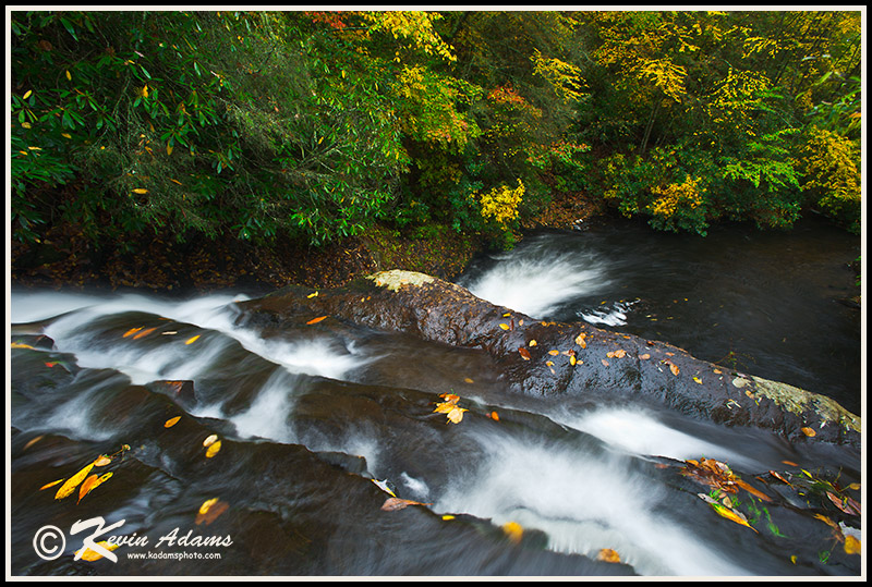 Autumn view of Lower Balsam Falls