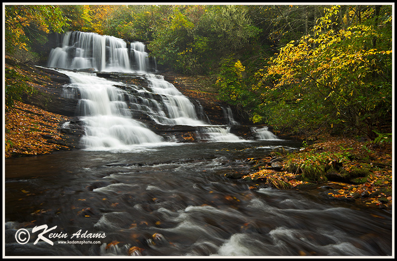 Another view of Patricia Falls in Nantahala National Forest. Nikon D700, Nikon 17-35mm lens at 22mm, polarizing filter, f/16, 0.4 second, ISO 400.