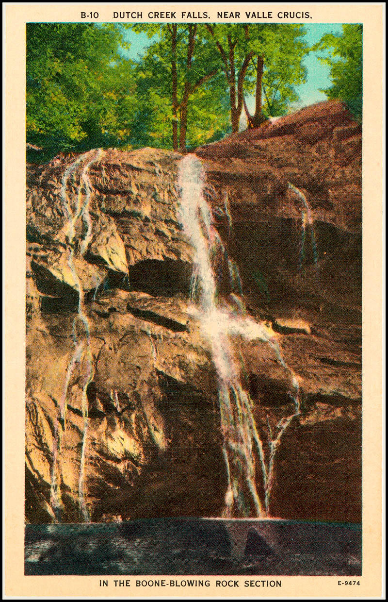Dutch Creek Falls postcard